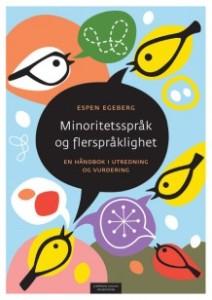 Omslag til boka Minoritetsspråk og flerspråklighet. Fugler med snakkebobler.