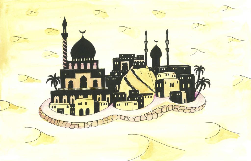 Et slott. illustrasjon fra den rike mannen og bonden