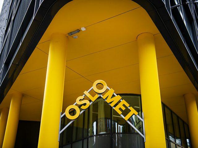 Inngangspartiet på et av OsloMets bygg.