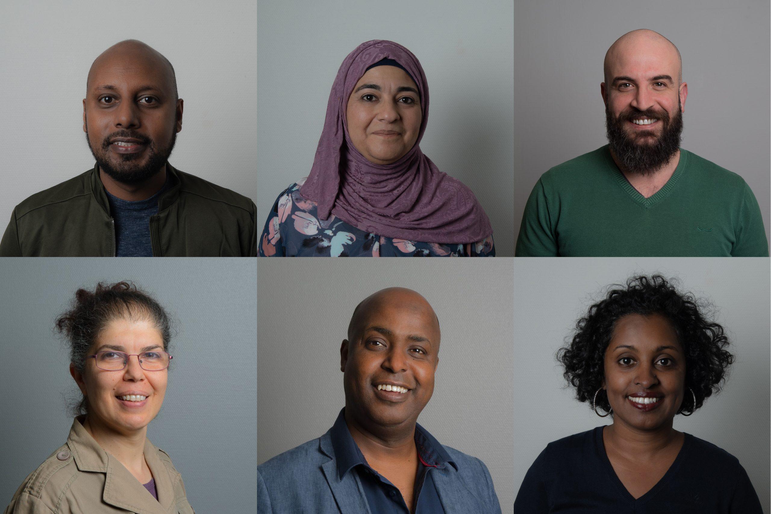 portrettbilder av seks lærere