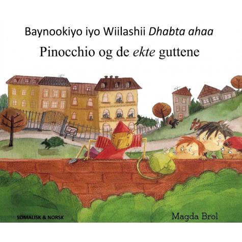 Omslaget til boka Pinocchio og de ekte guttene.