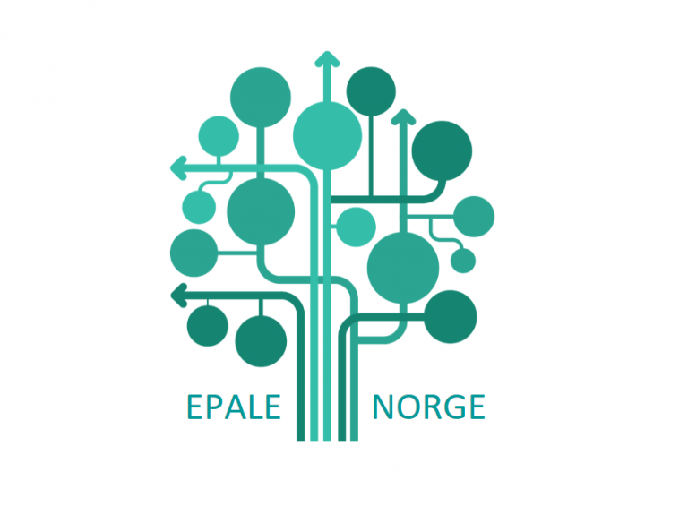 EPALE-logo. Et tre formet av sirkler som bindes sammen av linjer og piler.